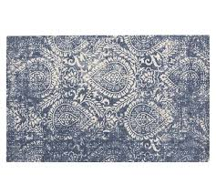 pottery barn shilah synthetic rug blue pottery barn rugs