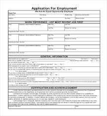 Sample Generic Application For Employment Stunning Form 48 Erkaljonathandedecker