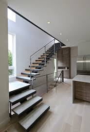 Concrete Stair Design For Small House White Walls And Steel And Concrete Staircase Usual House