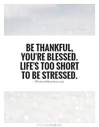 Blessed Life Quotes New Be Thankful You're Blessed Life's Too Short To Be Stressed
