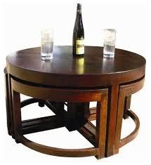 murrieta solid wood round coffee table