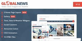 Globalnews News Magazine Html5 Template