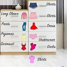 Organizing Drawers Mesmerizing Amazon Easma Dresser Clothing Decal Girl Dresser Labels For
