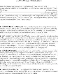 Business Templates Noncompete Agreement – Bonniemacleod