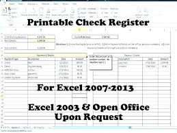 Free Download Check Register Cheque Book Record Template