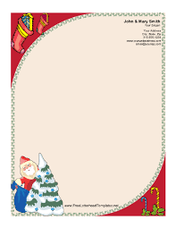 stationary template for word santa claus and christmas tree letterhead