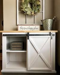 barn door console by sarahashleyallen on ig modified from