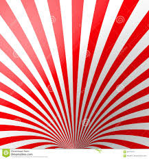 Rode Volumetrische Gestreepte Achtergrond Kegel Rood En Wit