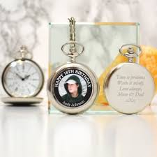 personalised 18th birthday day photo pocket watch