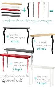 diy console table from ikea shelf desk legs