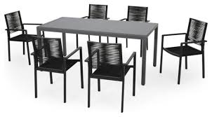 hailey outdoor modern 6 seater dining