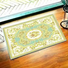 door mat runner yellow kitchen rugs teal luxury doormat size reactive printing living room bath central lemons kitchen rug