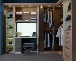 masculine blue closet shows dim recessed lighting illuminate small wooden dresser ikea set ideas