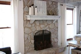 white stone fireplace decoration