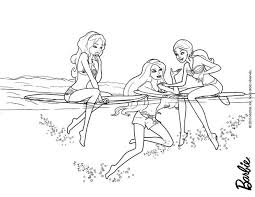 Small Picture Dolfin and barbies friends coloring pages Hellokidscom