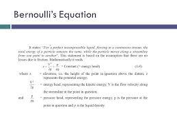 32 bernoulli s equation