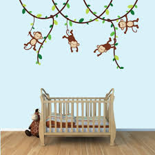 Monkey Bedroom Decorations Baby Nursery Nice Looking Baby Room Decoration With Maple Wood