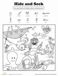 1st grade reading writing worksheet hide and seek