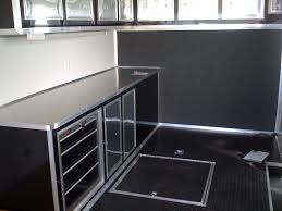 Cabinets For Cargo Trailers Cargo Mate 30 Foot Race Trailer Cabinets Photo By Kktrailersales