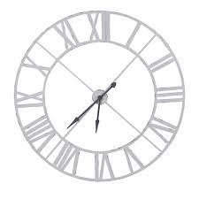 Industrial huge white metal wall clock archantiafo Gallery