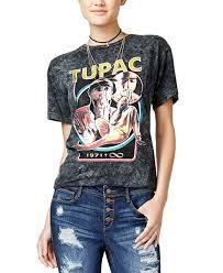 Amazon Com Bravado Juniors Cotton Tupac Boyfriend T Shirt