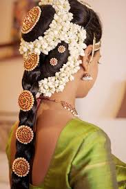 south indian bridal hairstyles with flowers
