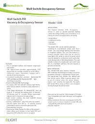Commercial Motion Sensor Light Switch Wall Switch Occupancy Sensor Model 1308 Wall Switch Pir