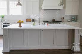 White Kitchen Cabinets Grey Island Design Ideas