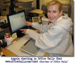 Angela Kinsey in the fice Tally Chat Room