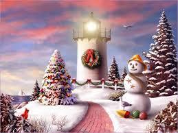 Christmas Scenes Free Downloads Christmas Lighthouse Art Free Download 2010 Christmas