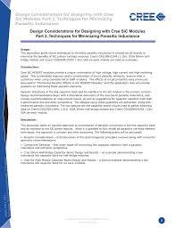 Bridge Design Considerations Design Considerations For Designing With Cree Sic Modules Part 2