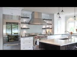 contemporary floating shelves kitchen designs