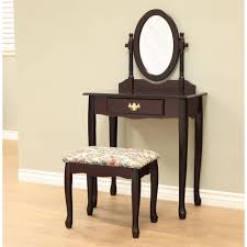 frenchi home furnishing 3 piece cherry vanity set