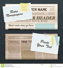 Newspaper Template No Download Vintage Newspaper Banners Stock Vector Illustration Of Article
