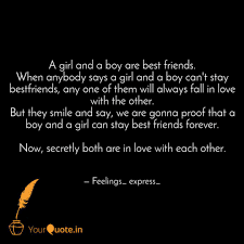 A Girl And A Boy Are Best Quotes Writings By Feelings