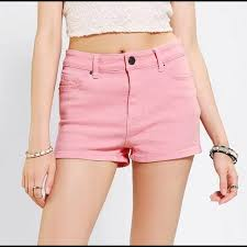Urban Outfitters Bdg High Waisted Pink Shorts
