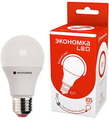<b>Лампочка Экономка LED</b> А60, Дневной свет, <b>E27</b>, 11 Вт ...