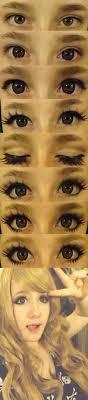 step by step big dolly anime eyes makeup by xfufflymomox