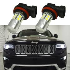 Details About 2x 100w Bright White H11 Led Fog Light Bulbs For 2014 2017 Jeep Grand Cherokee