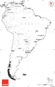 North And South America Blank Map Blank Simple Map Of South America