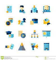 Resume Icons Resume Flat Color Decorative Icons Set Illustration 100 99