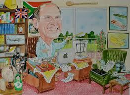 corporate caricature business retirement gift caricature by bookham leatherhead artist caricaturist david fisher