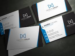 Blue Creative Business Card Template For 6