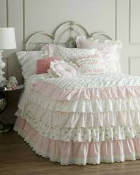 ruffles plus pink gingham and lace shabby chic bedroom set