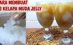 Resep minuman kekinian cocok untuk jualan yang pertama adalah es jelly mangga. Cara Membuat Jelly Kelapa Muda Jeruk Antu Cute766