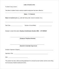 letter of intent job sample 11 sample employment letter of intent templates pdf doc free