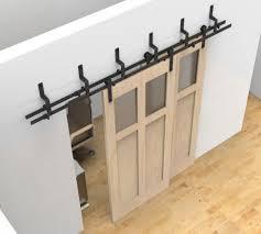 Home Design: Bypass Sliding Barn Wood Door Hardware Black Rustick ...