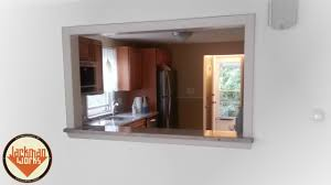 Kitchen Pass Through Kitchen Living Room Passthrough Window Youtube