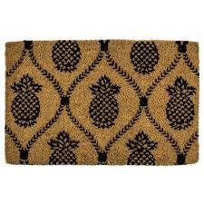Entryways Pineapple Trellis 22 in. x 35 in. Hand Woven Coconut ...