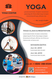 Brochure Template Design Free Download Free Yoga Classes And Meditation Flyer Design Templates